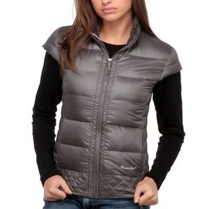 Moosejaw Alexandrine Down Puffer Gray Vest (Small)